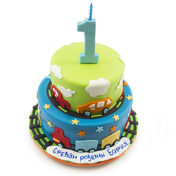 sve za prvi rođendan Šarena torta za prvi rođendan sve za prvi rođendan