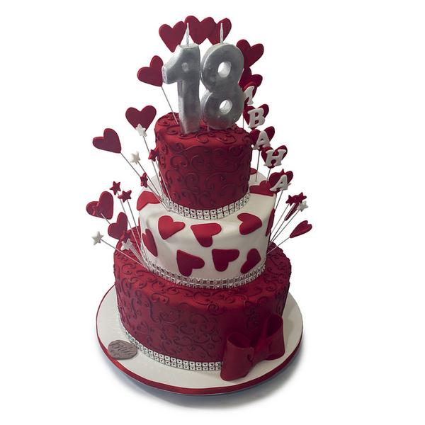 osamnaesti rođendan Crvena torta za osamnaesti rodjendan osamnaesti rođendan