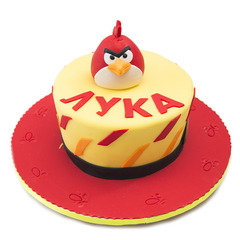 Red angry bird torta