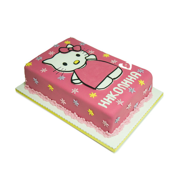Torta Hello Kitty u roze haljinici